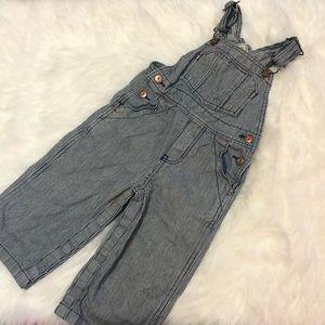 18m Genuine Kids Oshkosh vertical stripes overalls